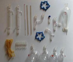 1000 Ml Chemistry Lab Glassware Kit Lab Stand Clamps 24 29