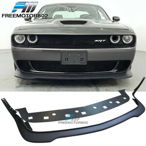 Fits 15 21 Dodge Challenger Hellcat Only Front Bumper Lip Unpainted Pp