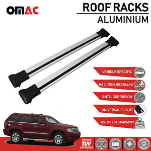 Roof Racks Cross Bars Rails Alu Silver Set For Jeep Grand Cherokee Wk 2005 2010