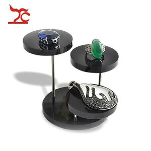 Black Acrylic Necklace Ring Pendant Shelf Jewelry Display Earring Bracelet Stand