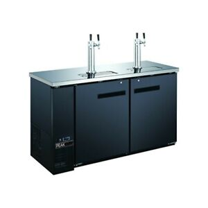 60 2 Door 4 Tap Beer Dispenser Kegerator Double Tap Keg Cooler