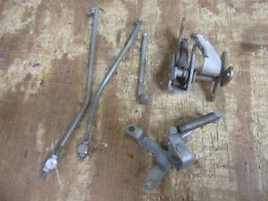 1956 Pontiac Chieftain Firewall Gas Pedal Throttle Linkage Bracket Rod Parts