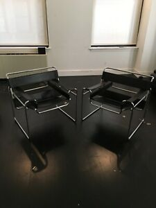 Pair Of Mid Century Wassily Chairs