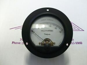 Simpson Electric Round Style Analog Panel Meter Dc Ammeters 0 50 Milliamperes
