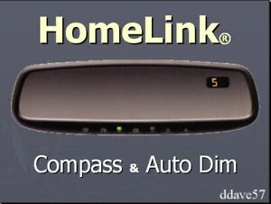 Gentex Homelink 3 Rearview Mirror With Compass Auto Dim Kit With New Harness