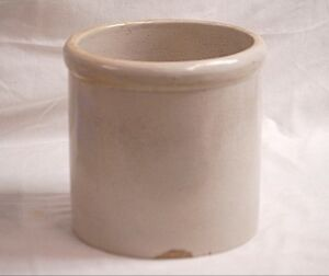 Antique Primitive Macomb Stoneware Co Ill Crock Decorative Art Pottery Stamped