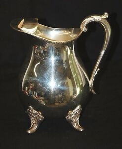 Vintage Epca Bristol Silverplate Water Pitcher Ice Guard By Poole Silver Co B44