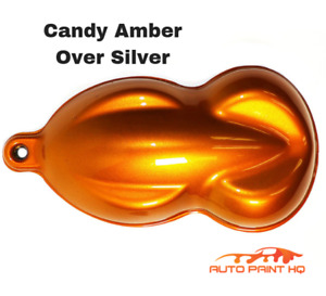 Candy Amber Over Silver Basecoat Tri coat Gallon Car Vehicle Auto Paint Kit