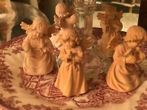 German Hand Carved Wooden Angels Sold Separately 2 Tall