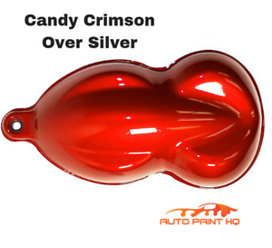Candy Crimson Over Silver Basecoat Quart Car Vehicle Motorcycle Auto Paint Kit