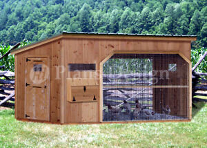 6 X 12 Walk In Modern Chicken Coop Plans Material List Included 80612cm