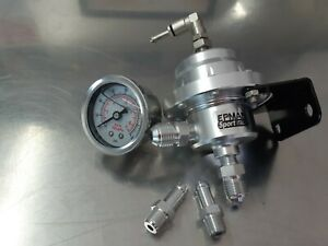 Universal Epman Type L Silver Adjustable Fuel Pressure Regulator With Gauge