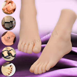 Lifelike Soft Silicone Female Legs Feet Mannequin Shoes Socks Display Model Us