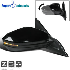 For 16 18 Honda Civic Black 7 Pin Power Heated Right Fold Side Mirror led Signal
