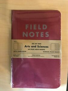New Field Notes Brand Arts And Sciences summer 2014 Fnc 23 Sealed 2 pack