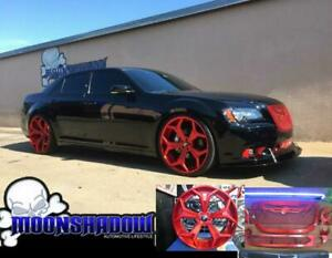 24 Forgiato F2 09 12 18 Chrysler 300 Srt Wheels Rims Grill Package Candy Red