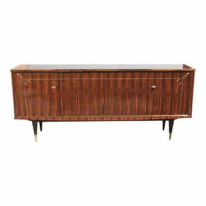 French Art Deco Macassar Ebony Sideboard Buffet With Diamond Mother Of Pearl
