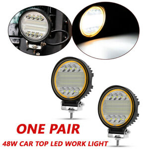 1pair 48w Led Work Light Fog Lamp Truck Off Road 4x4 Tractor Flood Lights 12 24v