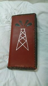 Oil Field Leather Pipe Tally Book Cover 8 75 X 4 Q