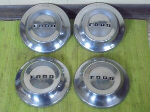 52 53 54 Ford Dog Dish Hub Caps 10 1 2 Set Of 4 Poverty Hubcaps 1