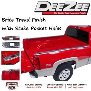Dz31967 Dee Zee Brite Aluminum Bed Rail Caps Dodge Ram 8 Bed 2009 2018