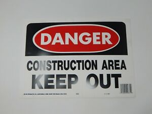 Lot Of 5 Hy Ko Danger Construction Area Keep Out Sign 10 X 14 520