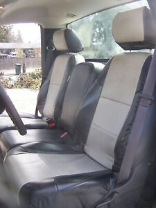 Custom Black And Grey Seat Covers For Chevy Silverado 2007 2013 Reg Cab