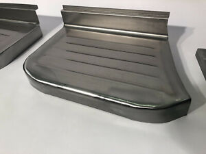 Ford F 100 Pickup Truck Steel Stepside Step Plates Set 1961 1966 Made In Usa