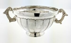 Antique Mexican Spanish Colonial Fine Silver Condiment Nut Dish Sugar Bowl