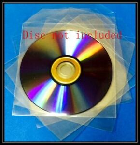 Premium 120 Microns Clear Cpp Plastic Cd Dvd Sleeves Bag With Flap 5x5 Cpp1
