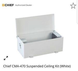 Chief Cma 470 Above Tile Suspended Ceiling Box Enclosure Mount Kit white
