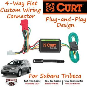 55370 Curt 4 way Flat Trailer Wiring Connector Harness Legacy Forester Outback