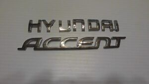 2006 2011 Hyundai Accent Rear Lid Chrome Emblem Logo Badge Sign 06 11 Used
