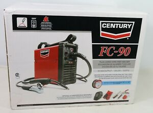 New Century 90 Amp Fc90 Flux Core Wire Feed Welder And Gun 120v Free Shipping