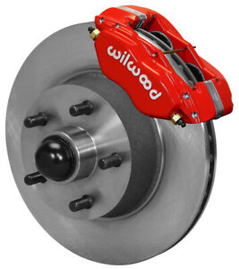 Wilwood Disc Brake Kit front 65 69 Ford mercury 11 30 Rotors red Calipers lines