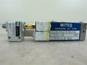 Miteq Amf 6s 7278 16 20p Microwave Rf Power Amplifier 7 2 7 8 Ghz