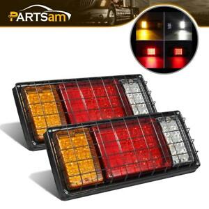 2 40 Led Turn Signal Brake Reverse Tail Running Lights Truck Trailer Rv Camper