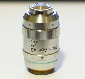 Nikon Microscope Objective Cf 40x 0 95 Plan apo 160 0 11 0 23 Tested Excellent