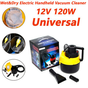 12v 120w Wet Dry Electric Handheld Super Suction Car Home Office Vacuum Cleaner
