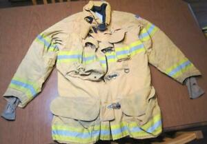 Lion Janesville Firefighter Fireman Turnout Gear Jacket Size 44 35 r c ag1
