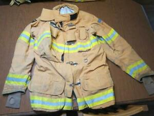 Lion Janesville Firefighter Fireman Turnout Gear Jacket Size 46 35 l c ae1