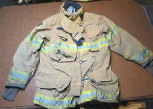 Lion Janesville Firefighter Fireman Turnout Gear Jacket Size 44 35 l c af1