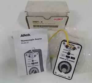 Altek Thermocouple Calibrator 3302t k Series 22 Tc Source
