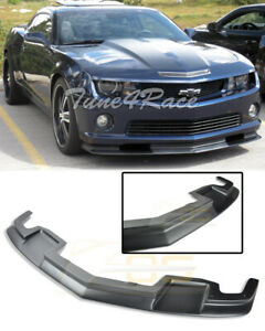 For 10 13 Camaro Ss Primer Black Front Bumper Lower Lip Splitter Tl1 Style Abs