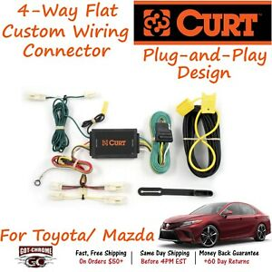 55567 Curt 4 way Flat Trailer Wiring Connector Harness Fits Mazda Toyota