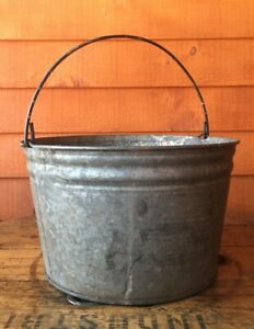 Vintage Metal Farm Bucket