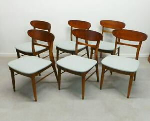 Mid Century Modern Andre Bus For Lane Acclaim Surfboard Back Dining Chairs With