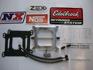 Hot New Blackout Holley 4150 Cheater 250 Plate Nitrous Kit 50 250hp Nos Nx Zex