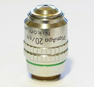 Nikon Microscope Objective Cfn 20x 0 75 Plan apo 160 0 17 Tested Excellent