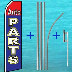 Auto Parts Flutter Flag Pole Mount Kit Advertising Sign Feather Swooper Banner